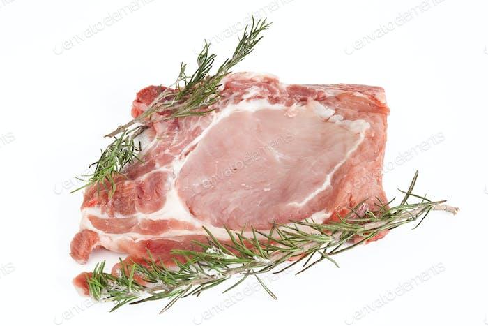 pork steak with rosemary