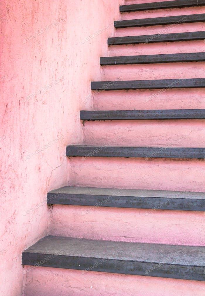 Розовые лестницы