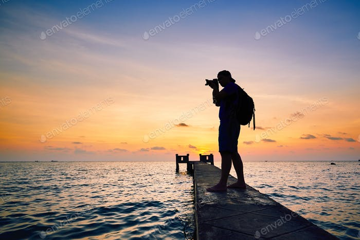 Photographer at the sunset