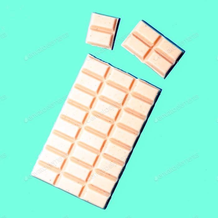 White chocolate tile. Minimal art design