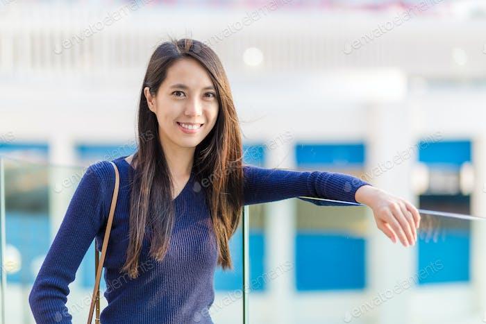 Asian woman at outdoor