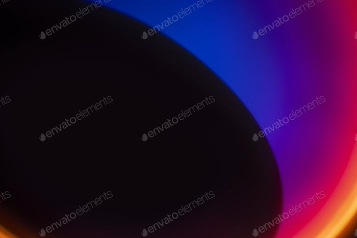 Aesthetic background with gradient neon led light effect