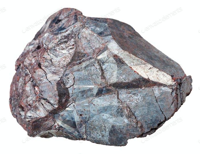 piece of Hematite (iron ore, haematite) rock