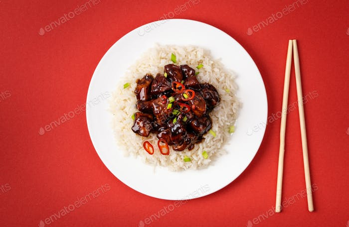 Traditional Chinese sweet and sour meat