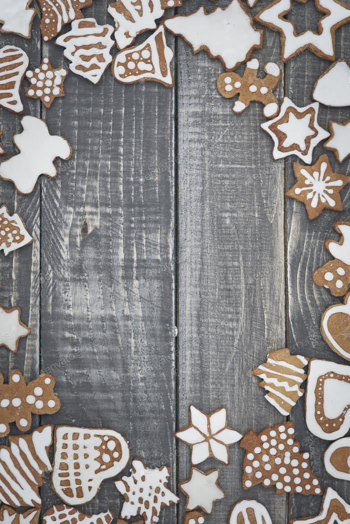 The frame from christmas gingerbreads