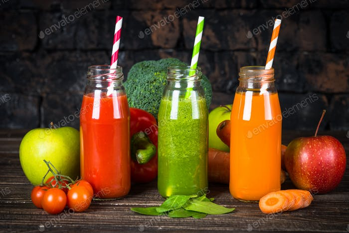 Fruit and Vegetable smoothie drink