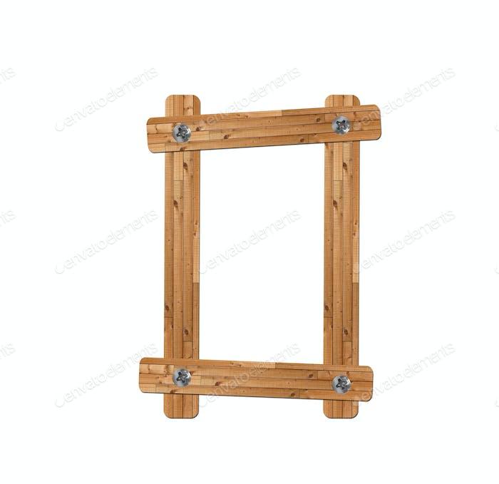 wooden alphabet - letter O on white background
