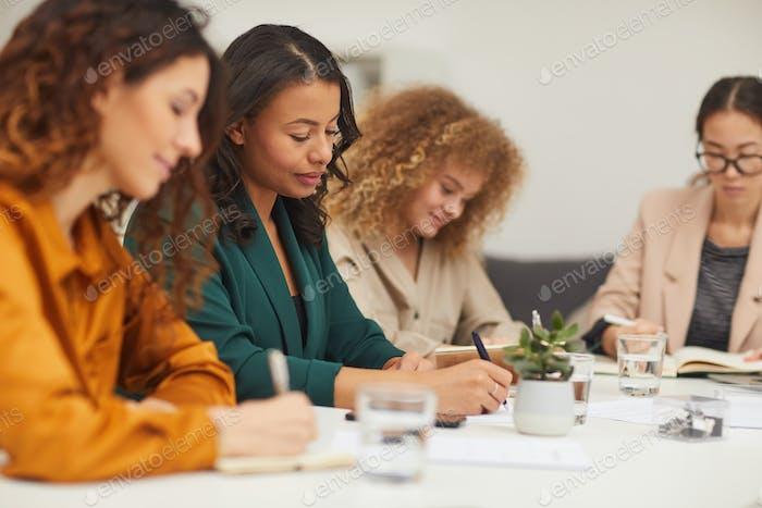 Four Businesswomen Coworking