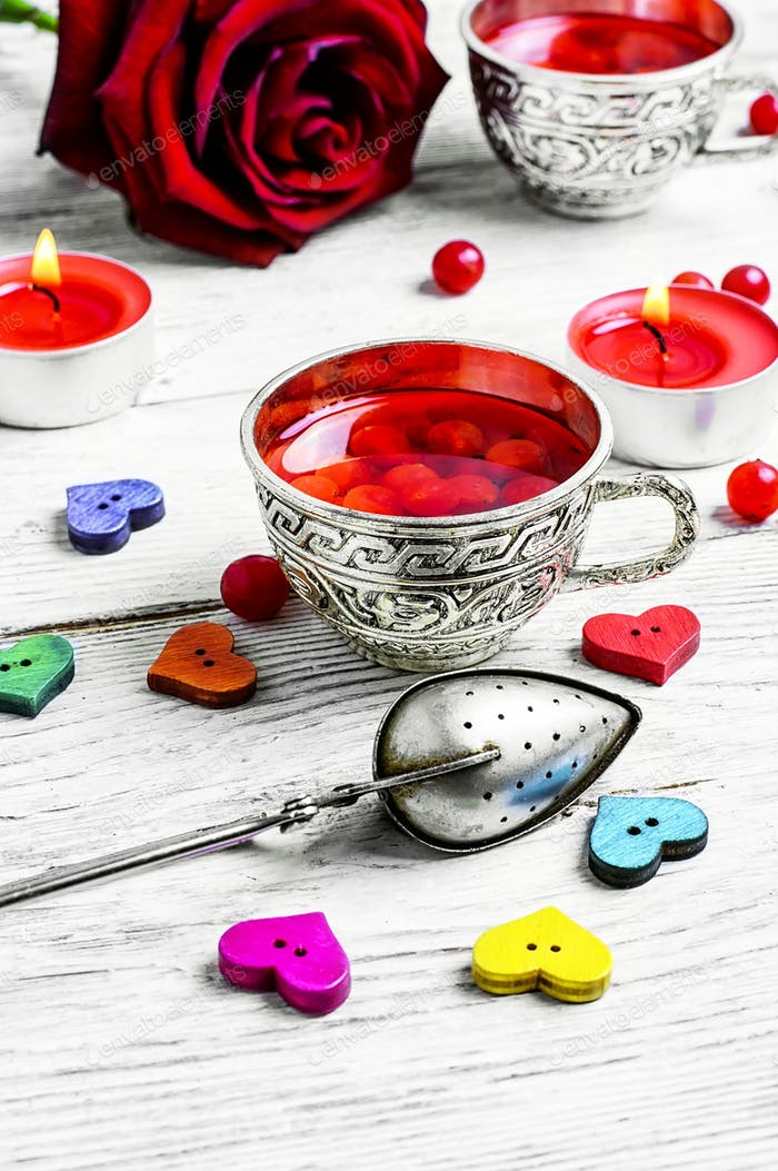 morning tea for Valentine's day