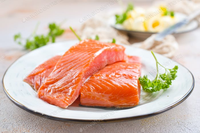 salmon fish and butter
