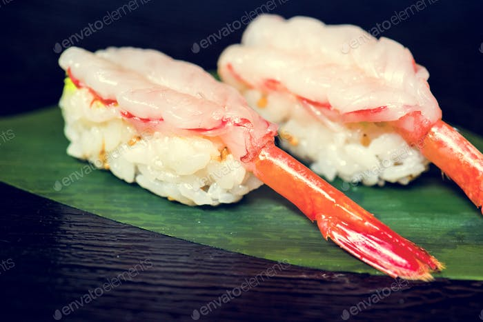 Ebi sushi japanese food healthy