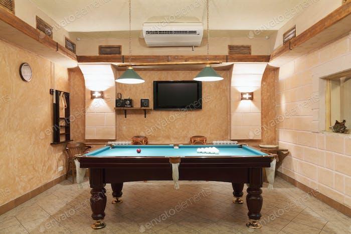 Billiards Room Interior