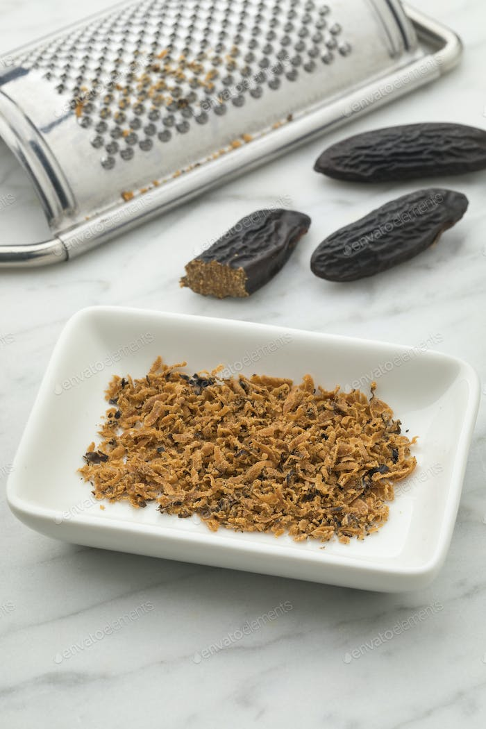 Grated Tonka bean