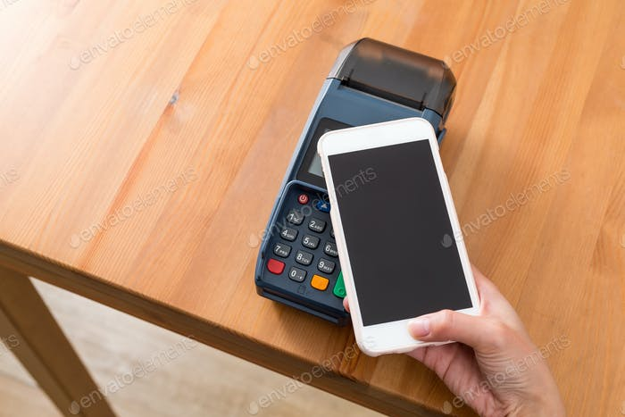 Cellphone pay on pos machine
