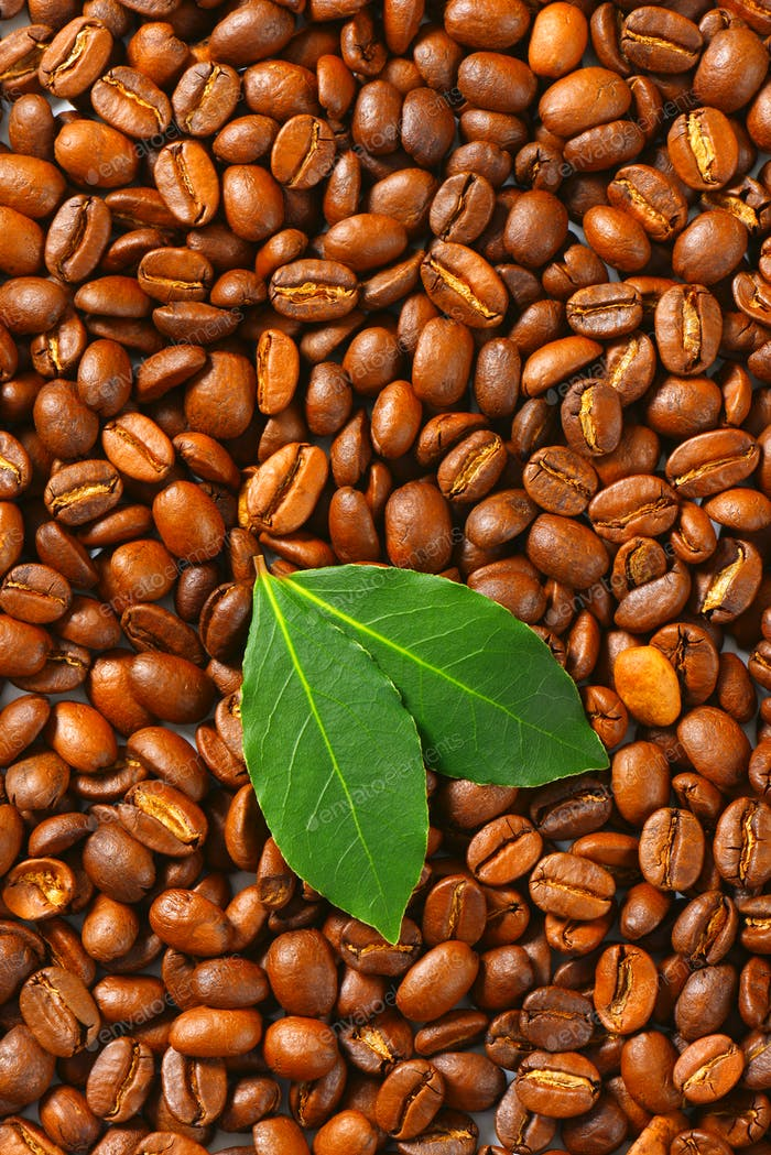 Medium roasted coffee beans background