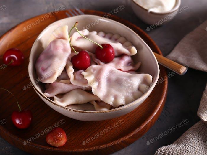 Dumplings with Cherries