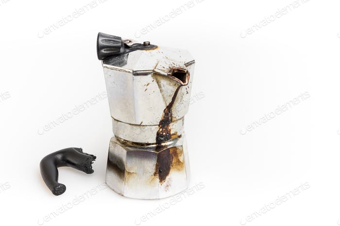Burned Moka pot