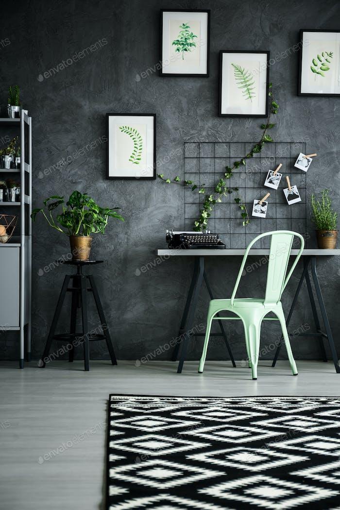 Plants apartment with desk