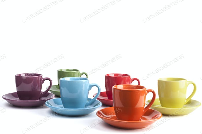 Isolated Coffee Mugs