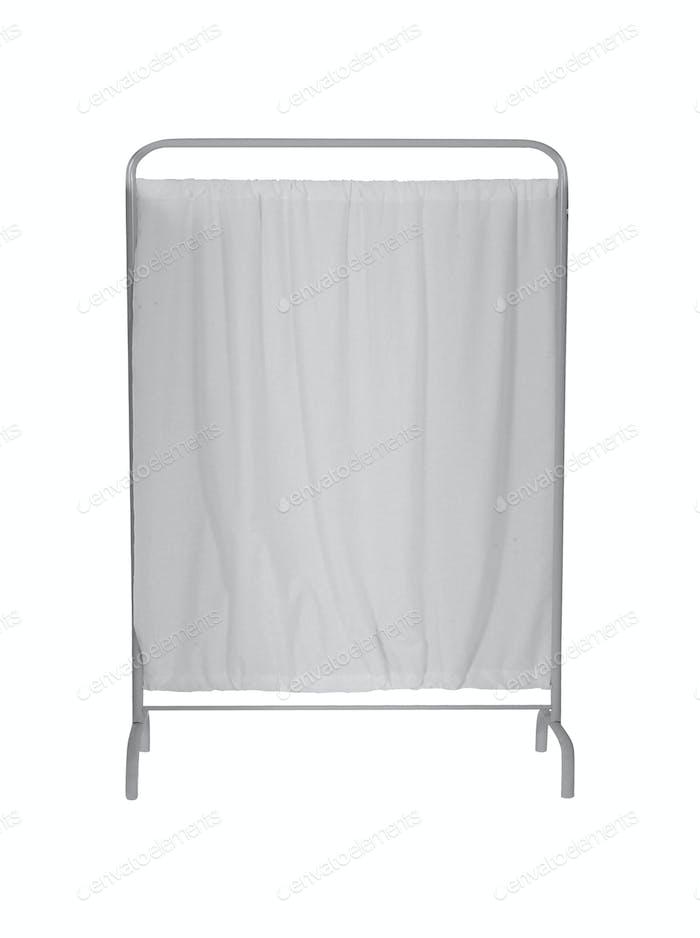folding screen on white backround