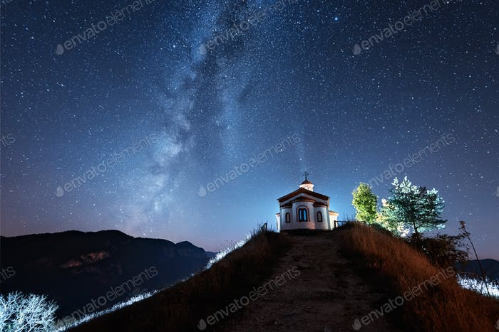 Night over Rodopi Mountain