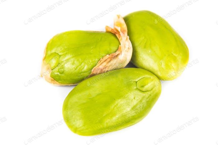 Close up on Petai seeds