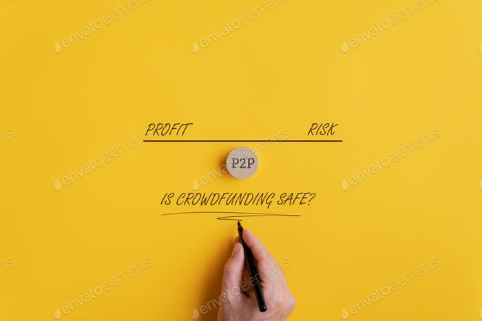 Conceptual image about safety of crowdfunding