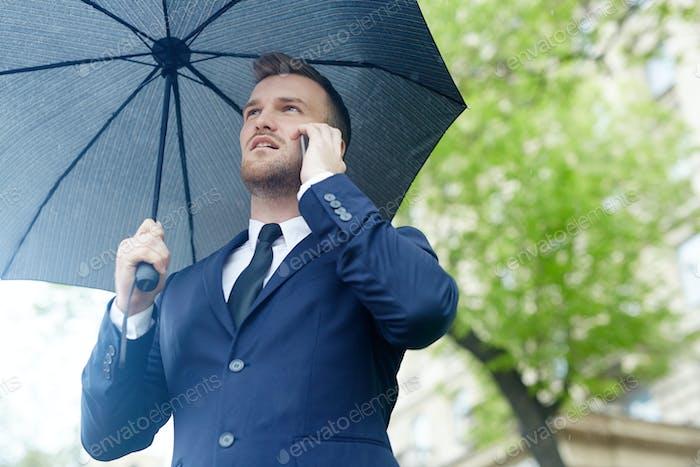 Calling in the rain