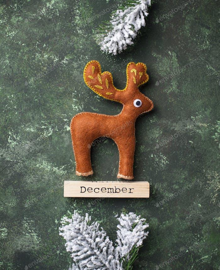 Christmas deer made of felt