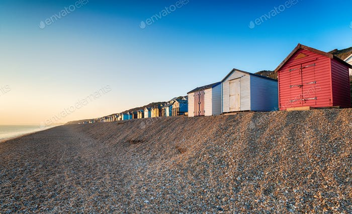 Beach Huts at Milford on Sea