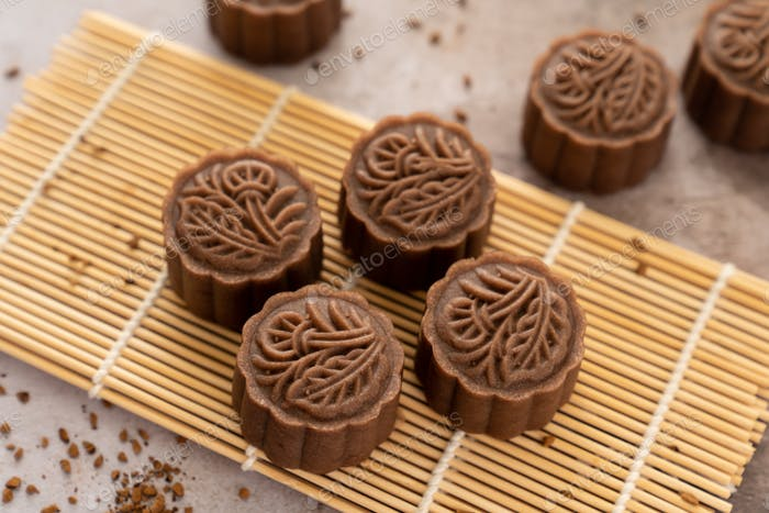Traditional Chinese mocha mooncake