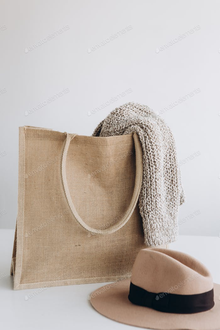 fabric eco shopping bag set clothes accessories