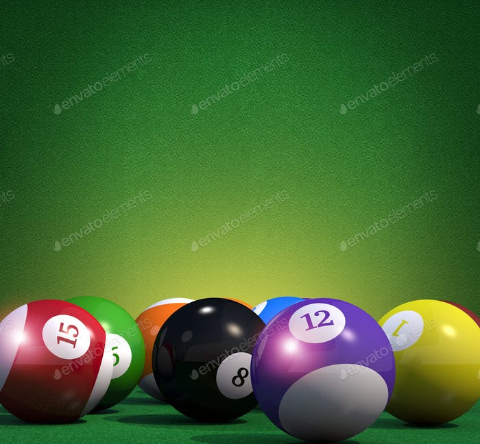 Billiard Game Copy Space