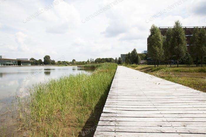 Einsame Promenade