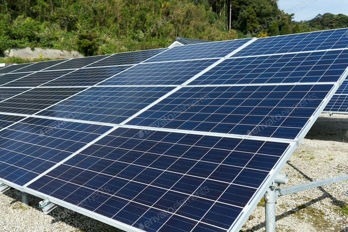 Solar panel in countryside