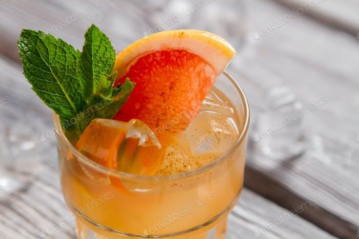 Beverage of orange color