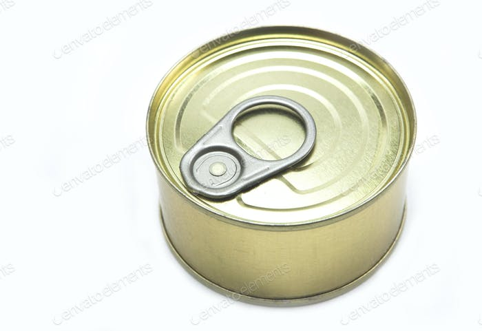 Tin closed isolated on a white background