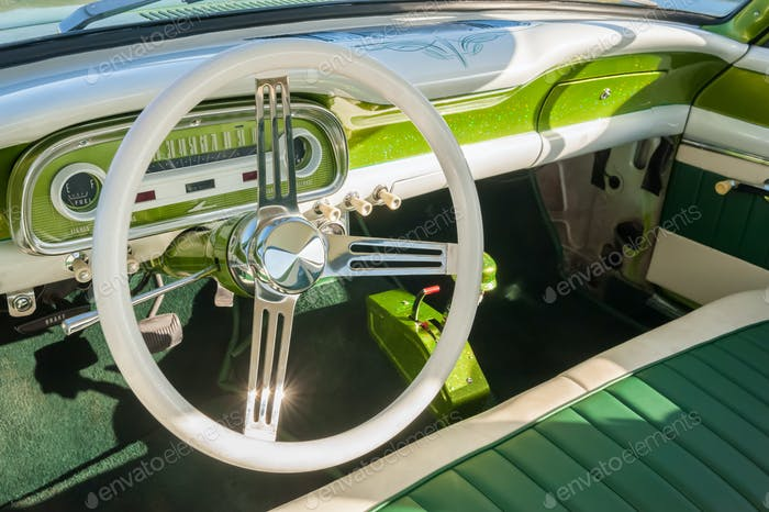 retro vehicle interior