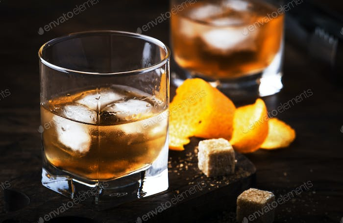 Old Fashioned - classic alcoholic cocktail