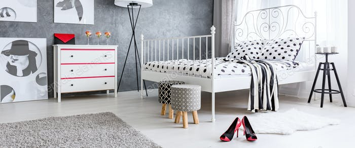 Female additions in bedroom