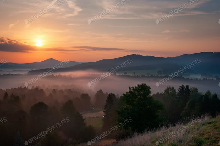 Sunrise at Bohemian Switzerland, Czech republic