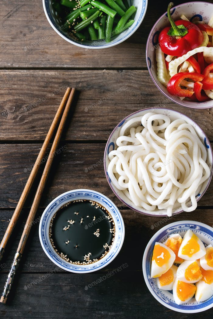 Ingredients for stir fry