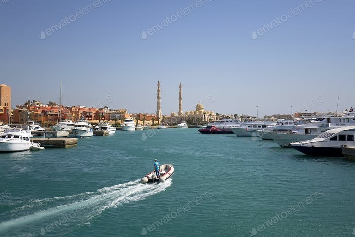 Entrance to the port of Hurghada