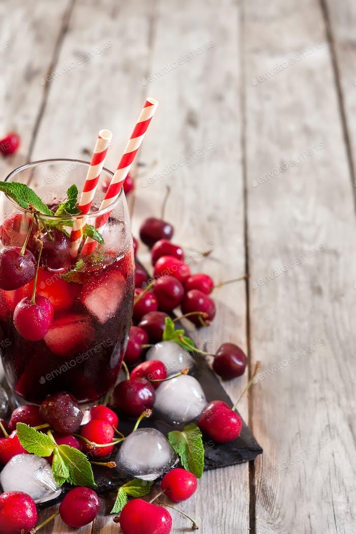 Cherry juice background