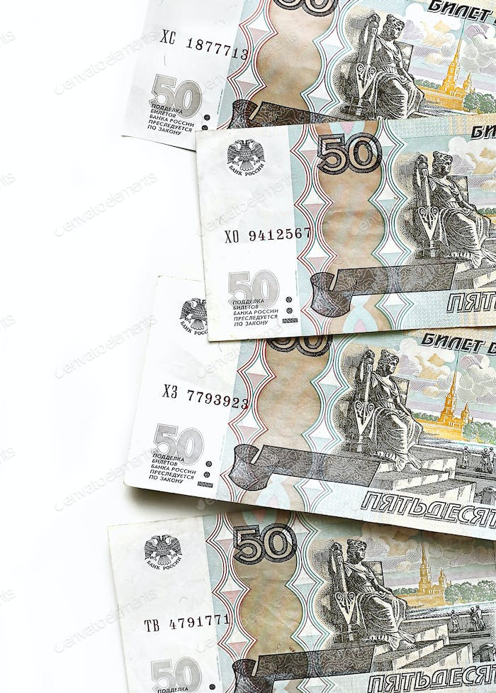 Russian money, five hundred rubles banknotes