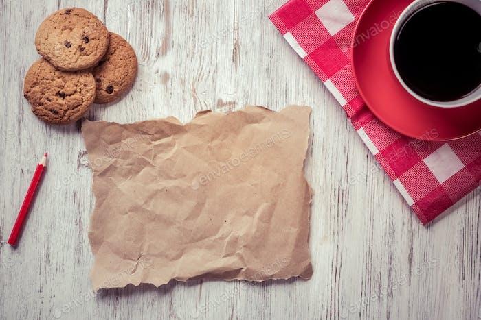 Coffee break with cookies