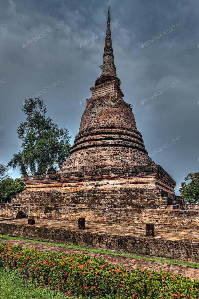 Old chedi in Sukhothai, Thailand