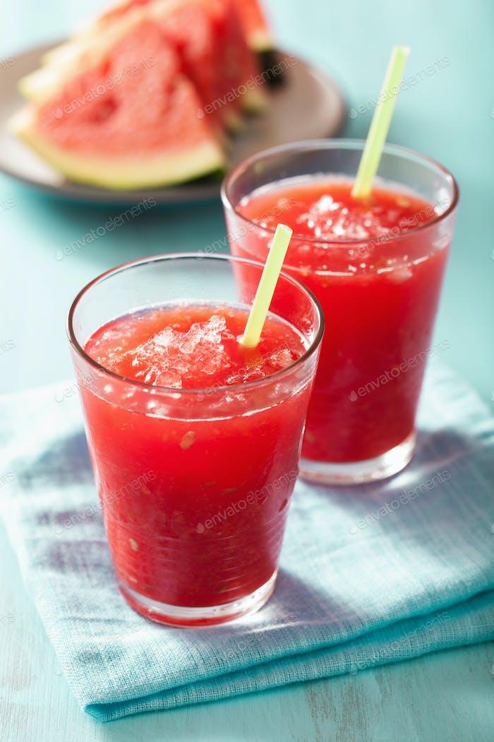 watermelon summer refreshing drink in glasses