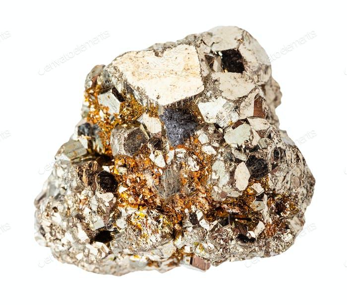 raue kristalline Pyritgestein isoliert