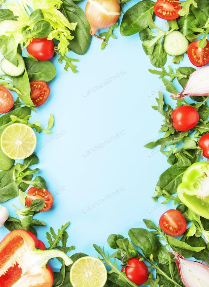 Healthy food frane